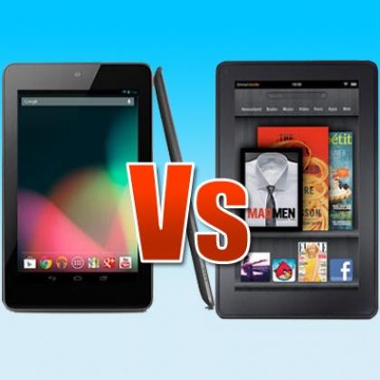 Tablet Cage Match:  Nexus vs. Kindle
