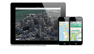 ipad iphone5 2up ios6 maps print